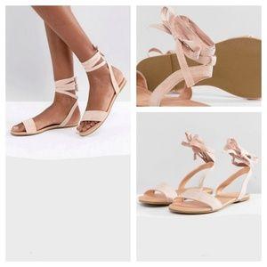 ASOS Tie Leg Flat Sandals